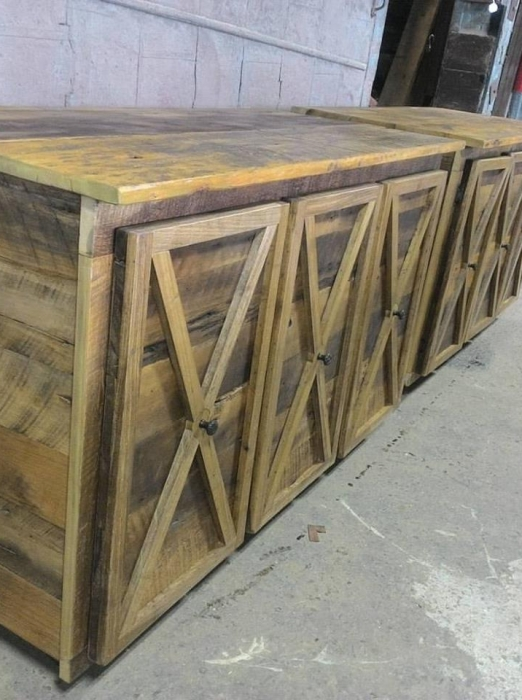 Double Cabinet, built in our Wood Shop by Billy Leeka