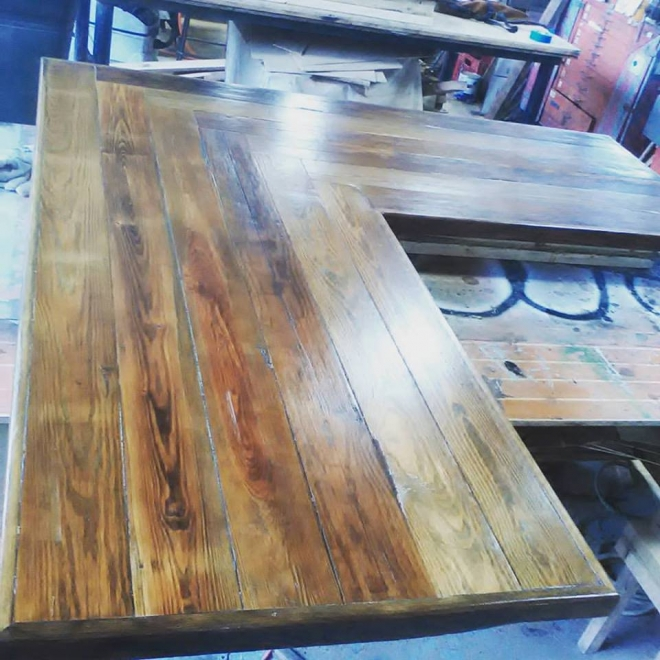 Pine L top built in our Wood Shop by Billy Leeka