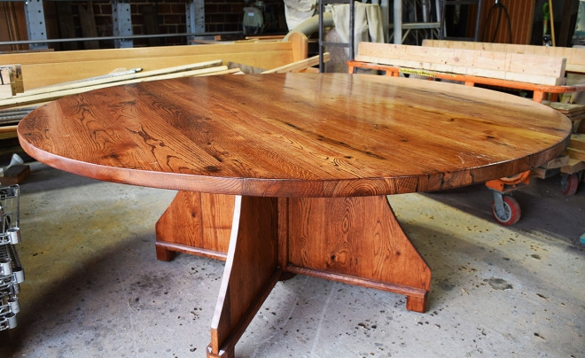 Rugged, Rustic, Round top table all finished and ready for a forever home!