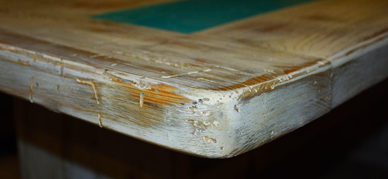 Custom Farm table built from salvaged heart pine.