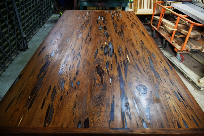 This is what the Custom Table Top by Billy Leeka looks like finished!