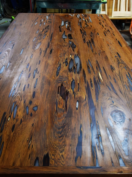 This Is What The Custom Table Top By Billy Leeka Looks Like Finished! Custom  Wood Shop Creations