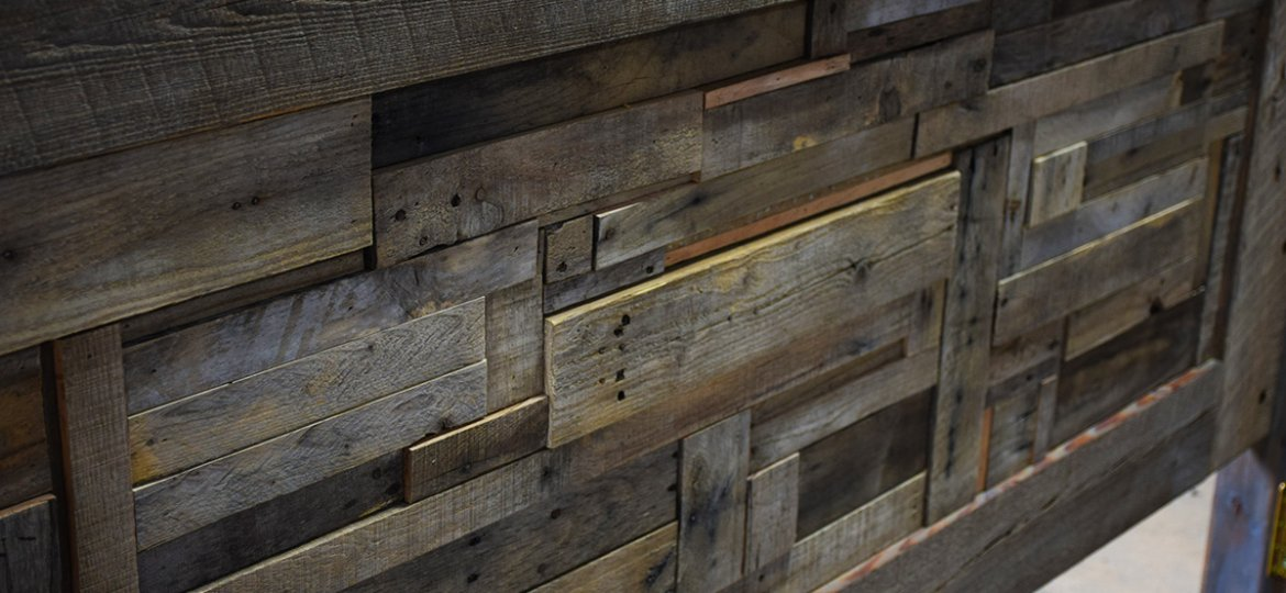 Parker Custom Pallet Wood Headboard Completed