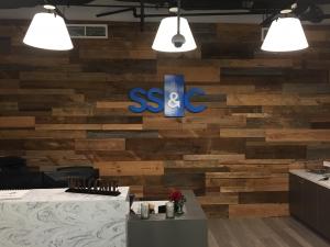 Custom Plank Wall Installation