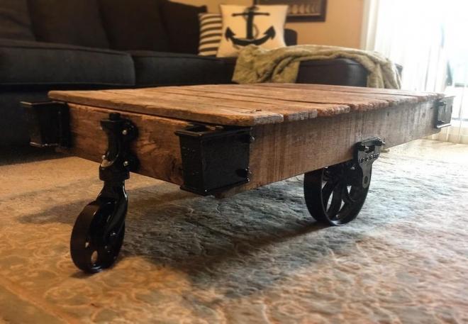 Vintage Warehouse Cart Finished