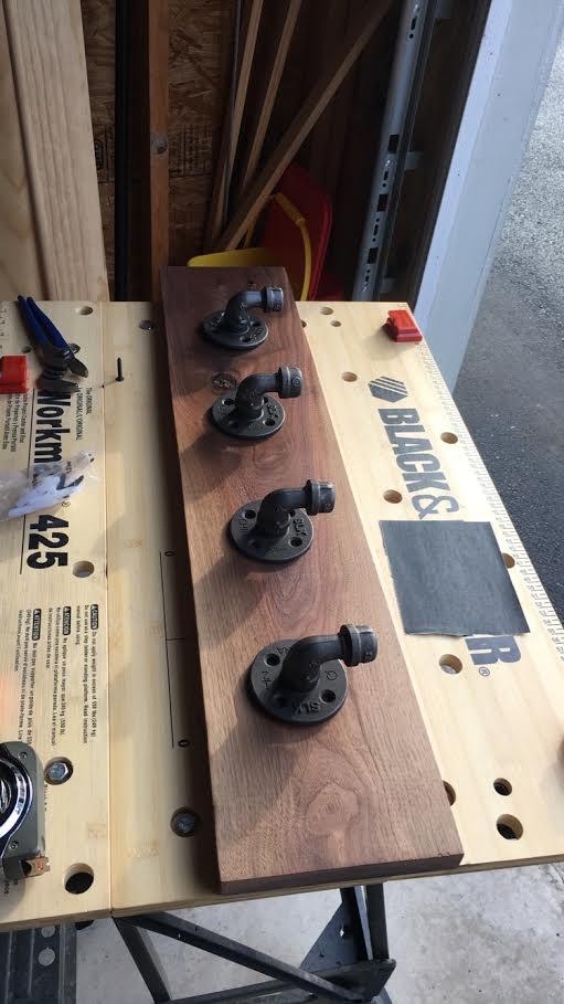 Coat rack taking shape