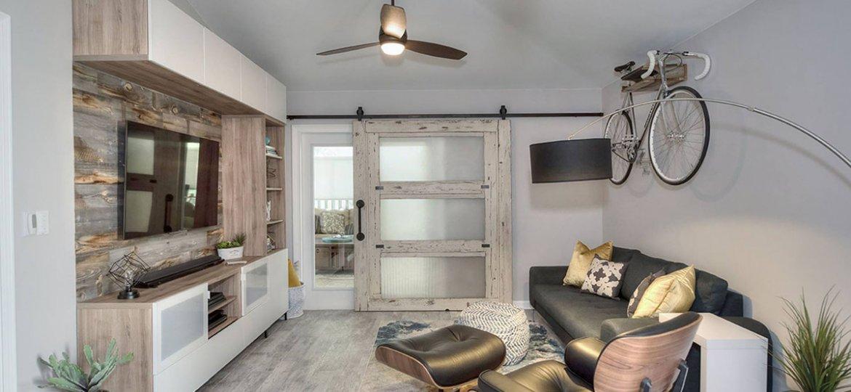 Custom living room makeover by Level Up Design