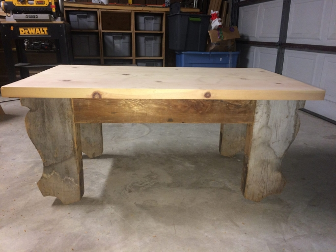 Rugged Table from Salvaged Heart pine and beams