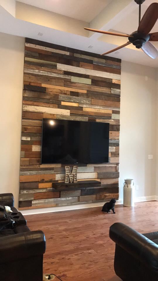 DIY feature wall Stepanie Moore