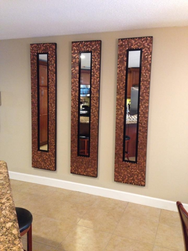 Vintage Mirrors adorned with pennies