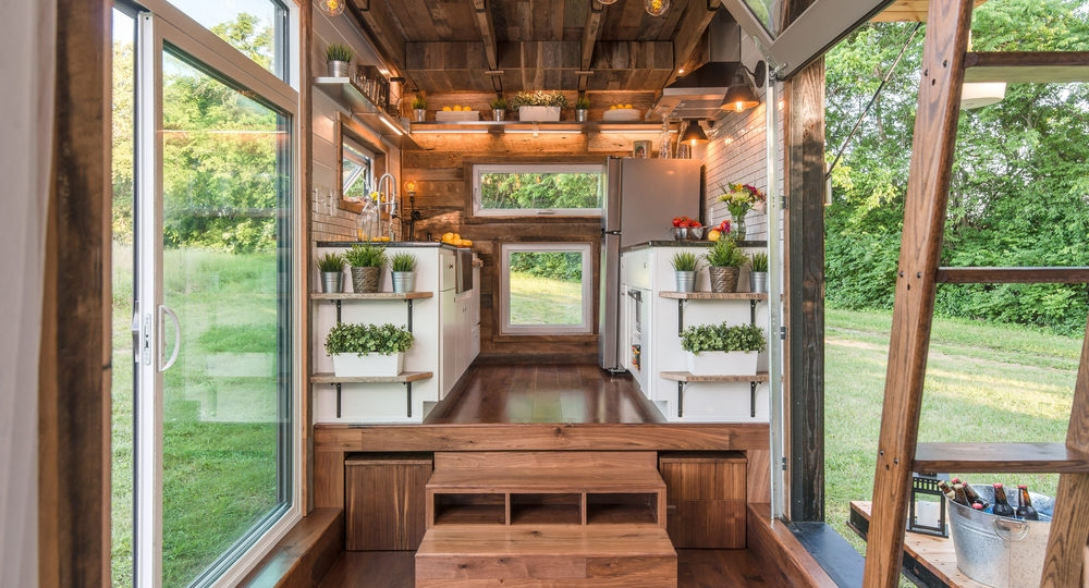 Well lit open area in this beautiful tiny house