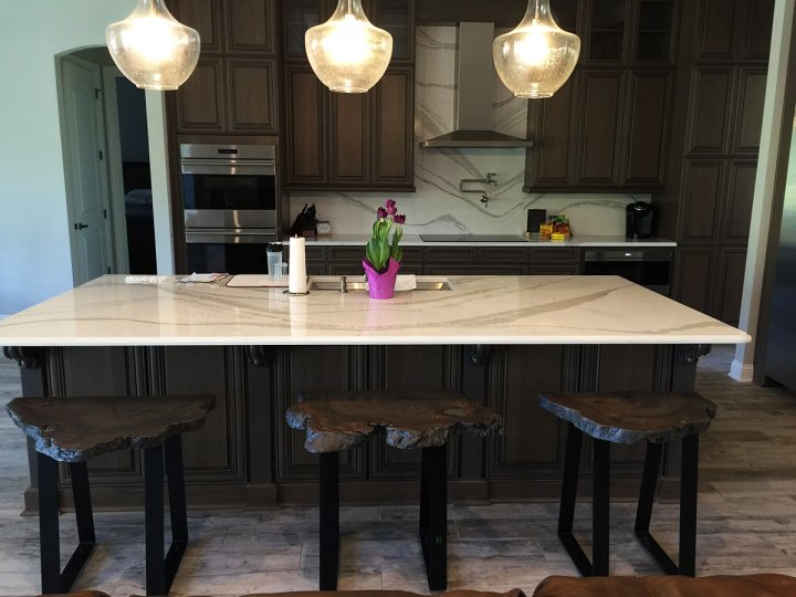 Custom Cookie Slab Stools With A Modern Touch