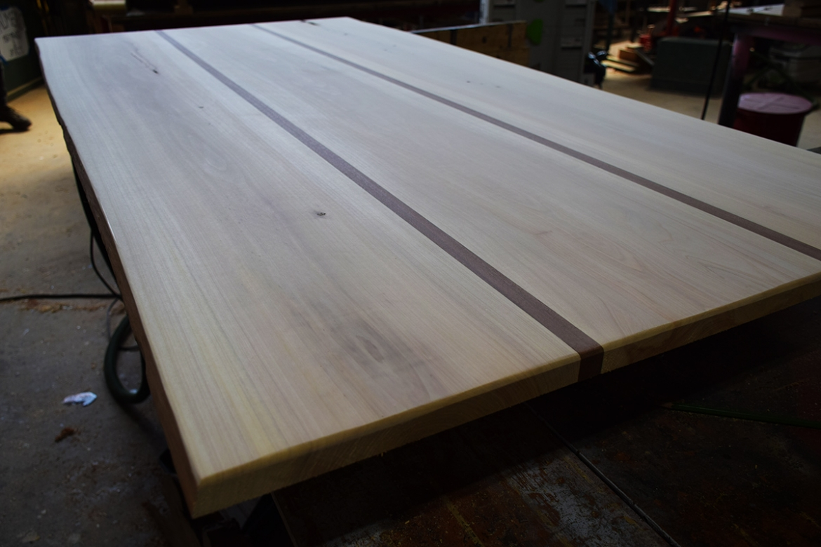 Sapele and Cypress table top ready for paint and stain