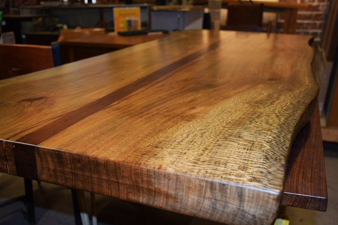 Custom Sycamore Table top finished and ready for it's new home!