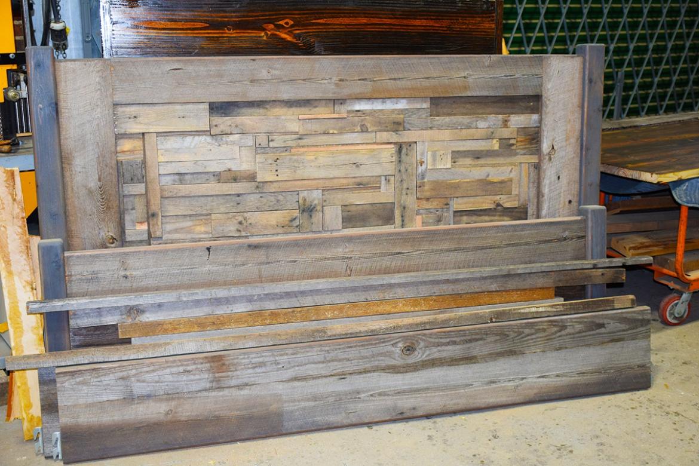 Custom Pallet Wood Headboard, footboard and rails!