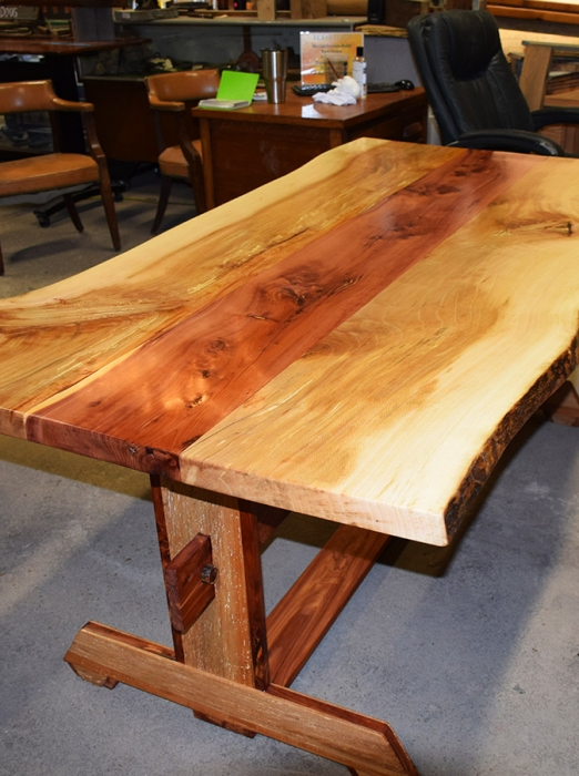 Custom Sycamore and Cedar Table finished and ready to go to it's new home.