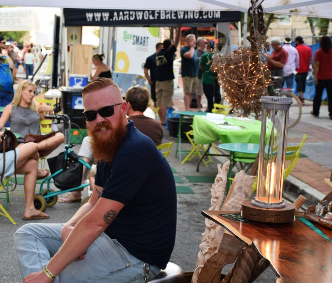 Nate chillin at the Green Lion Festival 2017