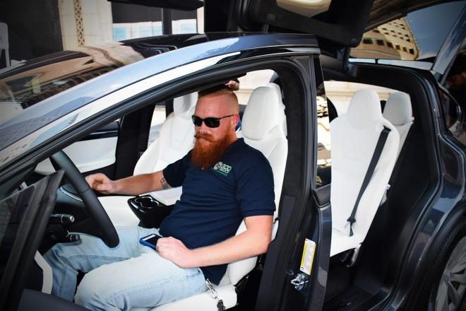 Tesla Motors was on hand