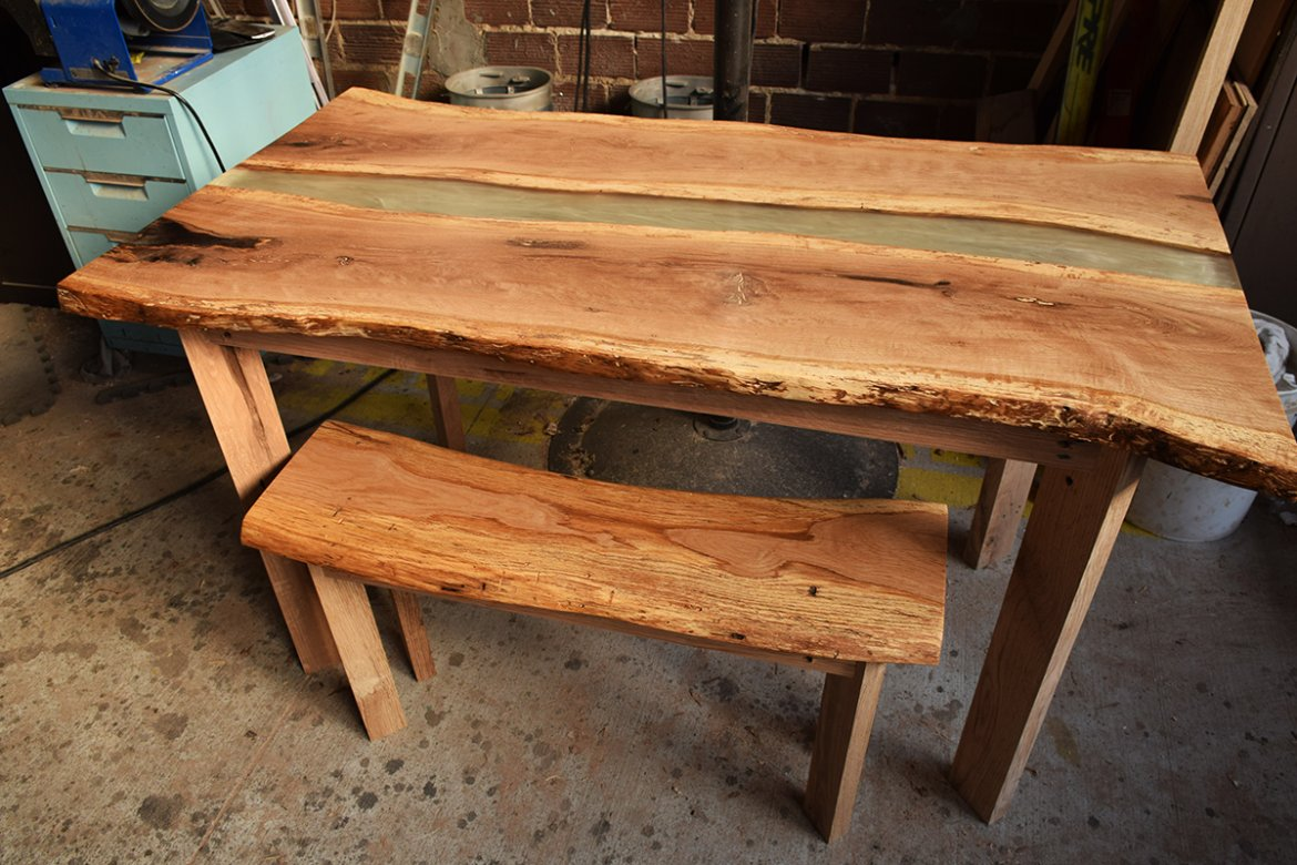 While Parker says Live Oak is not his favorite species to work with, he was very pleased with this finished piece.