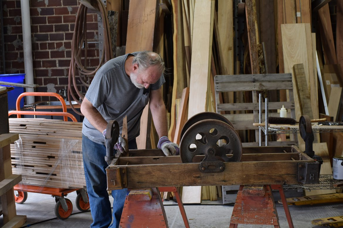 Seen here is Peter getting started on an old Lineberry Factory cart.