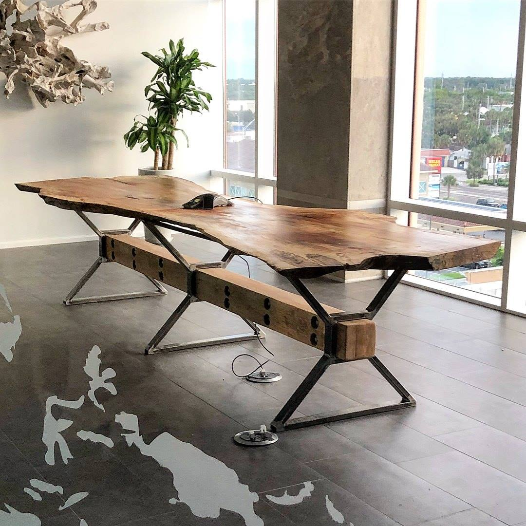 This conference table is beautiful, rugged and built to last.