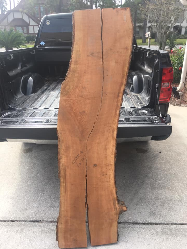New live edge cherry slab ready for the wood shop!