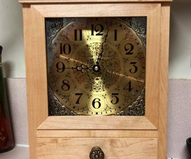 Finished DIY mantle clock