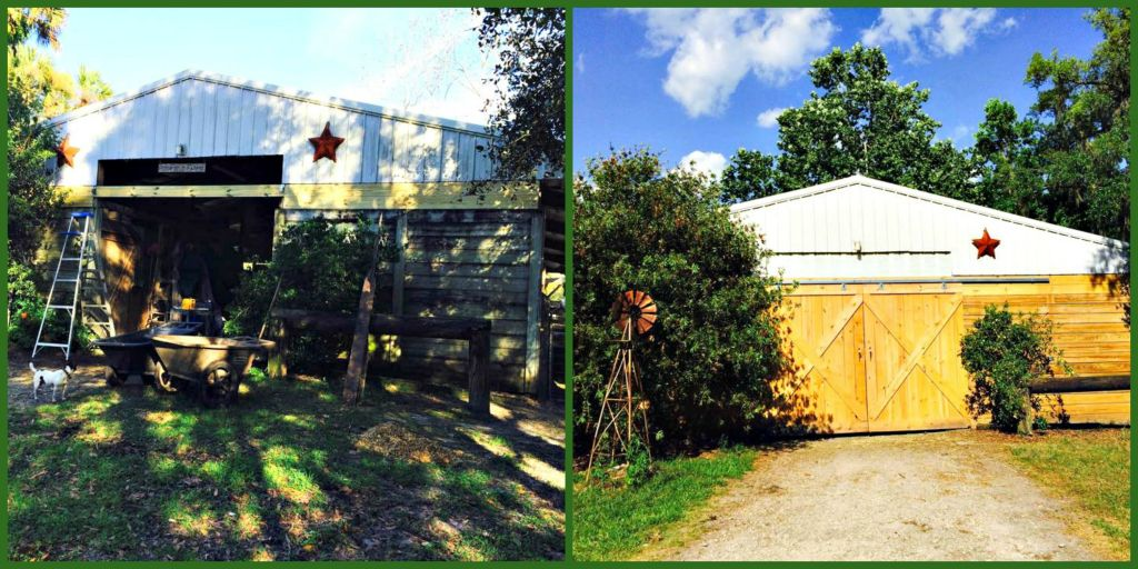 Exterior Barn Door Before and After