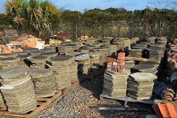 Salvaged concrete pavers